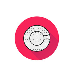 Symbol of a zorbing ball icon on white background vector