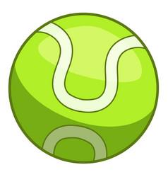 Tennis ball icon cartoon style vector