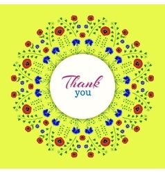 Thank youBright Floral Wreath vector image vector image