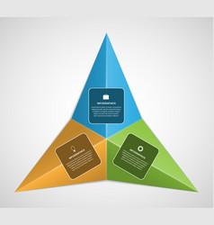 Triangular infographic design element vector image