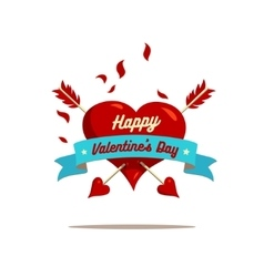 Valentines day labels with crossed arrows vector image vector image