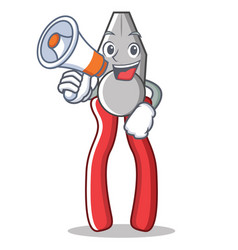with megaphone pliers character cartoon style vector image