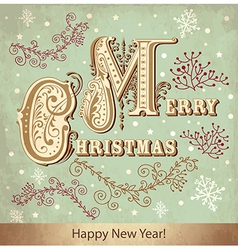 Merry Christmad Greeting Card cover vector image