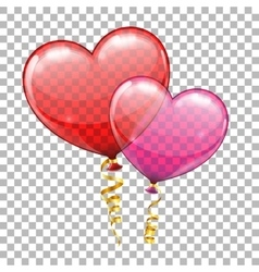 Valentines day with hearts balloons vector