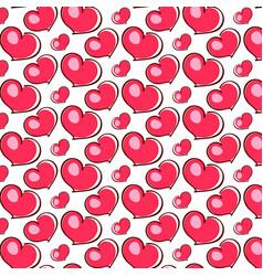 pink hearts love vector image