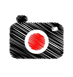 Photography logo scribbled vector
