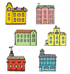 Set with color houses vector