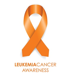 Leukemia cancer awareness ribbon vector