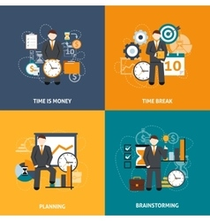 Time management flat vector