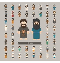 Set of arab characters poses  eps10 format vector