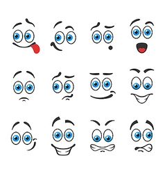 Emotions smiles vector