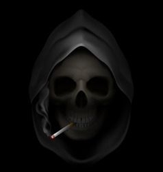 Smoking kills skull death 05 vector