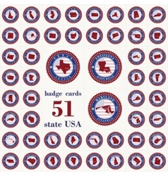 Badge cards of State USA vector image