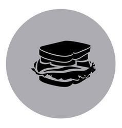blue emblem sticker sandwich icon vector image
