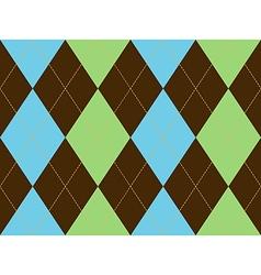 Brown green argyle seamless pattern vector