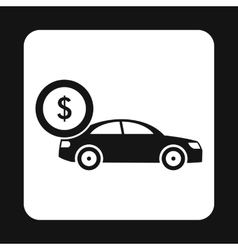 Buying car icon simple style vector