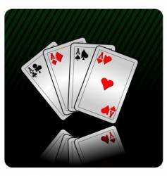 casino illustration with cards vector image vector image