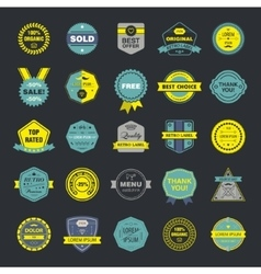 Collection of premium retro badges and vector image vector image