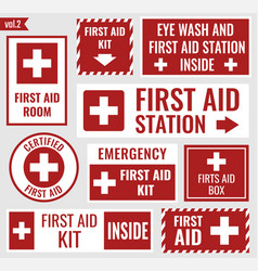 first aid stickers vector image