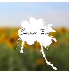 Headline with splash on sunflowers background vector