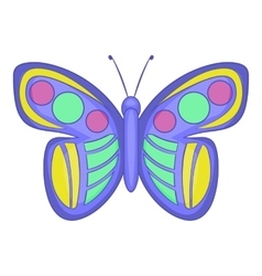 Insect butterfly icon cartoon style vector