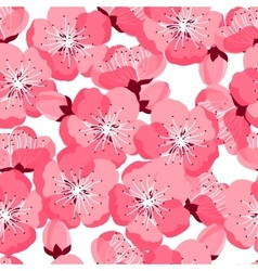 Japanese sakura seamless pattern with stylized vector image vector image
