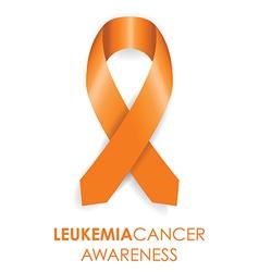 Leukemia cancer awareness ribbon vector