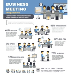 Meeting infographics set vector