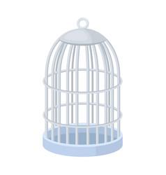 metal cage for birdspet shop single icon in vector image