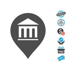 Museum marker icon with free bonus vector