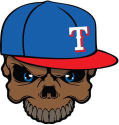 rangers skull vector image vector image