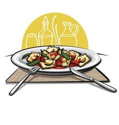 ravioli pasta vector image