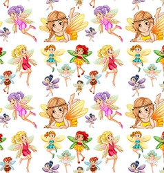 Seamless fairies vector