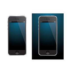 Smartphone black vector image