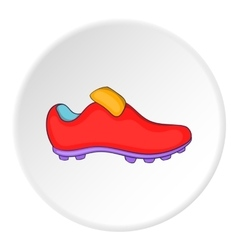 Soccer shoe icon cartoon style vector
