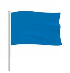 Waving blue flag tempalte vector image vector image