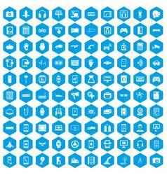 100 adjustment icons set blue vector