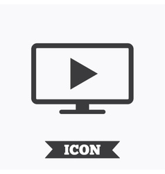 Widescreen tv mode sign icon television set vector