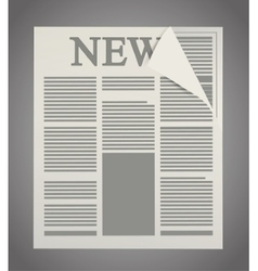 Isolated newspaper article design vector