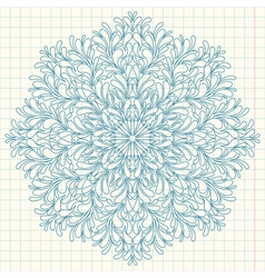 Ornamental round lace with drops vector