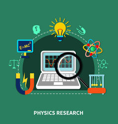 Physics research elements vector