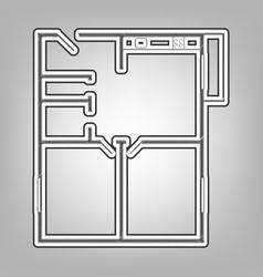 Apartment house floor plans pencil sketch vector