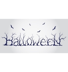 Hand drawn halloween lettering vector