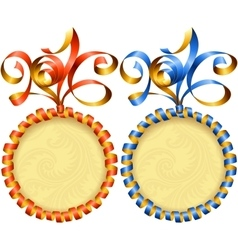 New year 2016 circle frame set vector