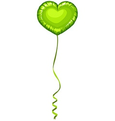 Heart shape balloon in green color vector