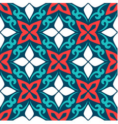 Arabic ornamental ceramic tile vector
