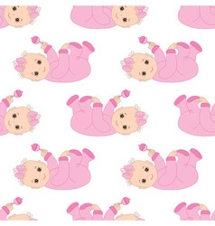Baby girl seamless pattern vector