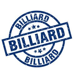 Billiard blue round grunge stamp vector