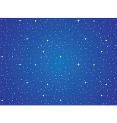 Blue sky with stars background vector image vector image