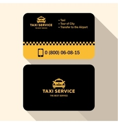 Business card taxi driver flat modern trendy vector image